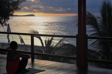 Watching the sun rise at saigon om yoga teacher training