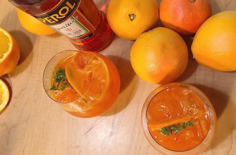 Aperol Spritz Orange Smoked Thyme Cocktail Recipe