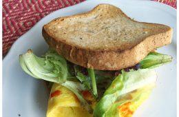 Deluxe Breakfast Sandwich with Krinos Feta CHeese