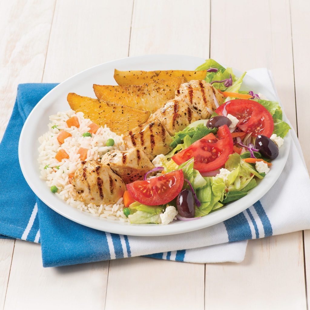 Jimmy the Greek's Chicken Souvlaki dinner plate