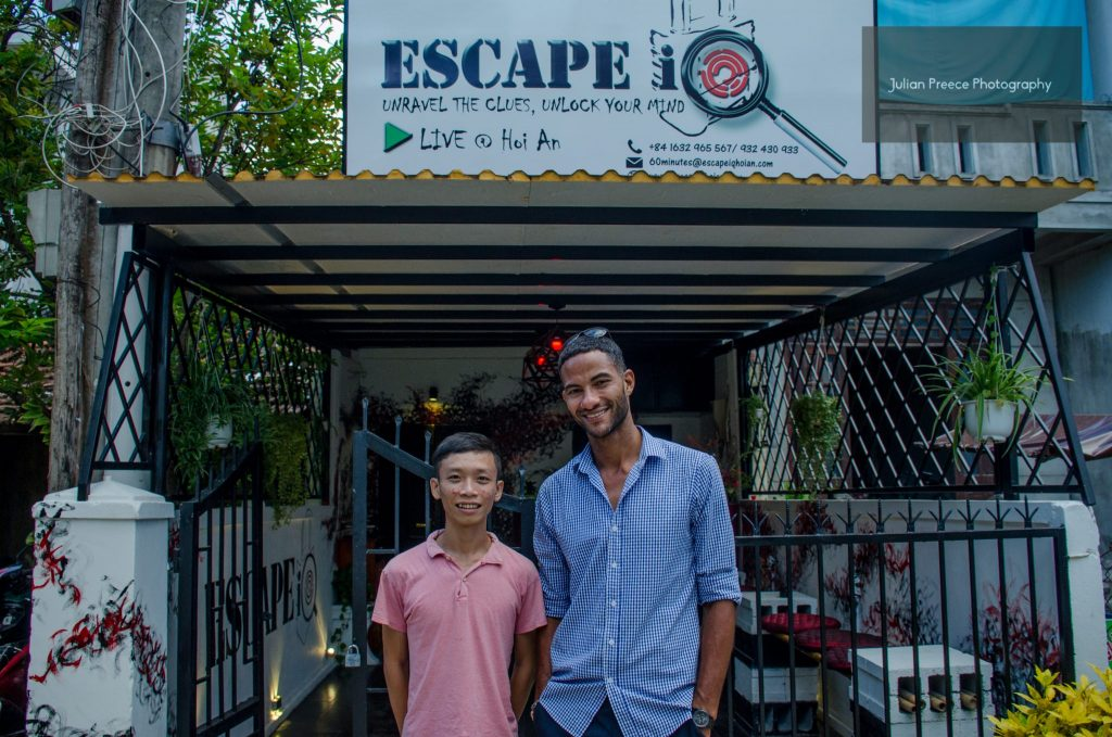 Escape iQ Hoi An Founders Chris and Dat