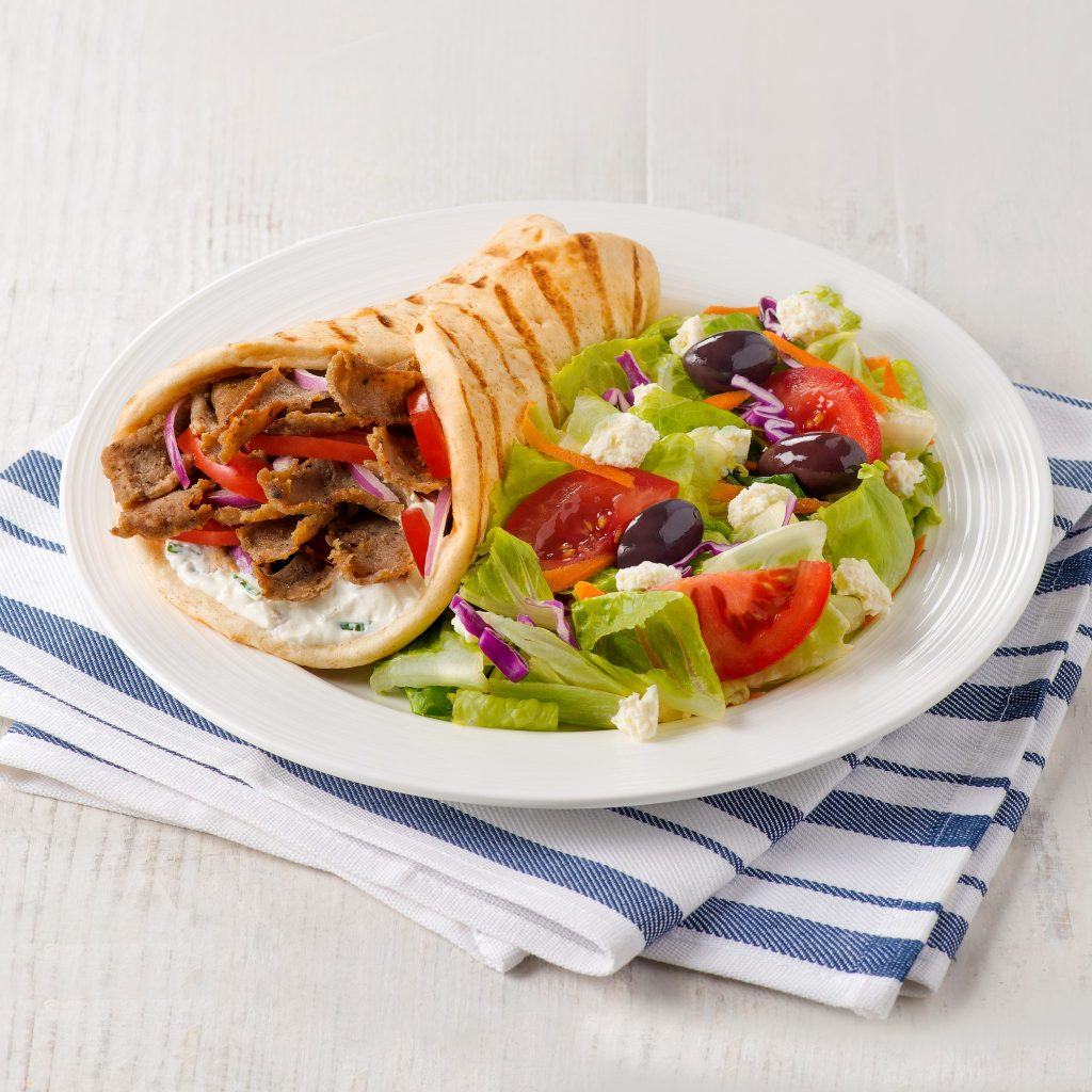 Jimmy the Greek's Gyro Pita with side salad
