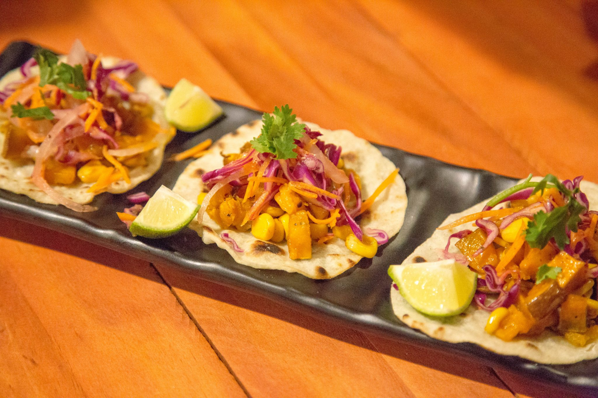 Charred Sweetcorn and Roasted Butternut Tacos