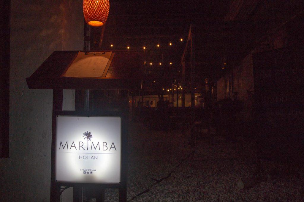 Hoi An Nightlife Marimba Bar sign