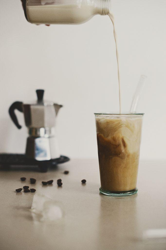Plastic Free Stream Straws with Coffee