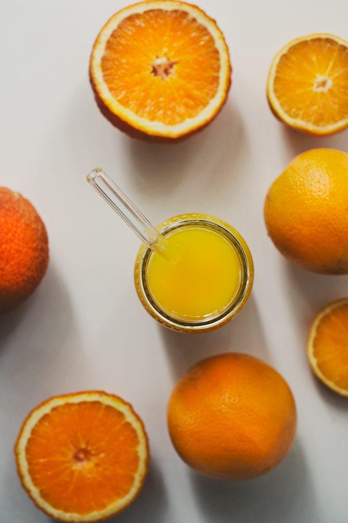Plastic Free Stream Straws with Orange Juice