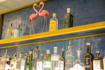 The T Room Gin Bar Hoi An Vietnam Gin Bottle Shelf