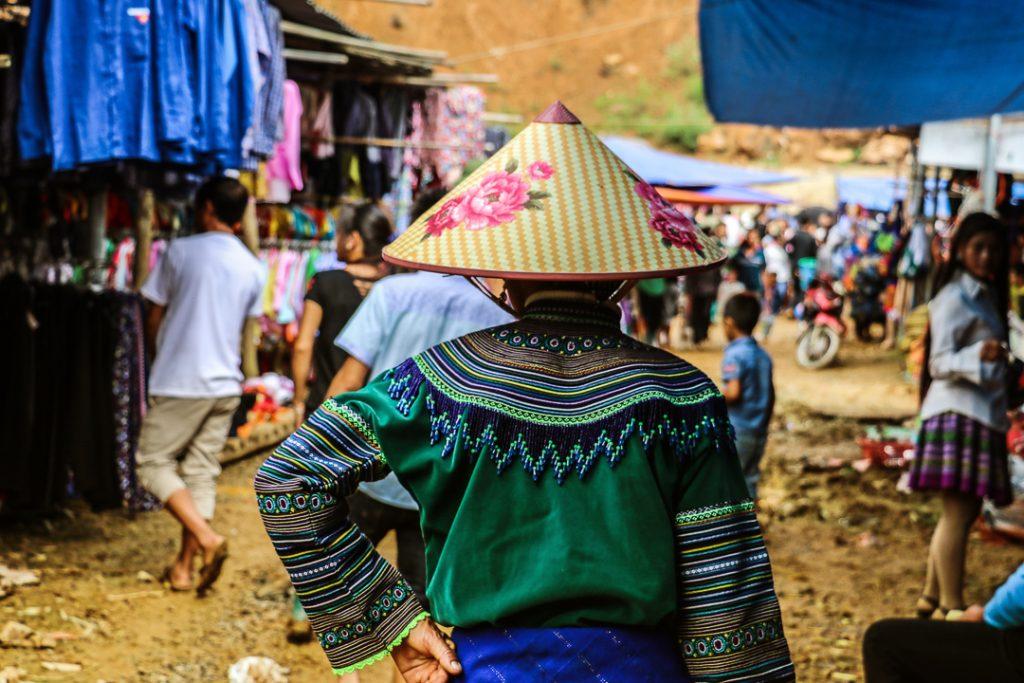 local market in Northern Vietnam