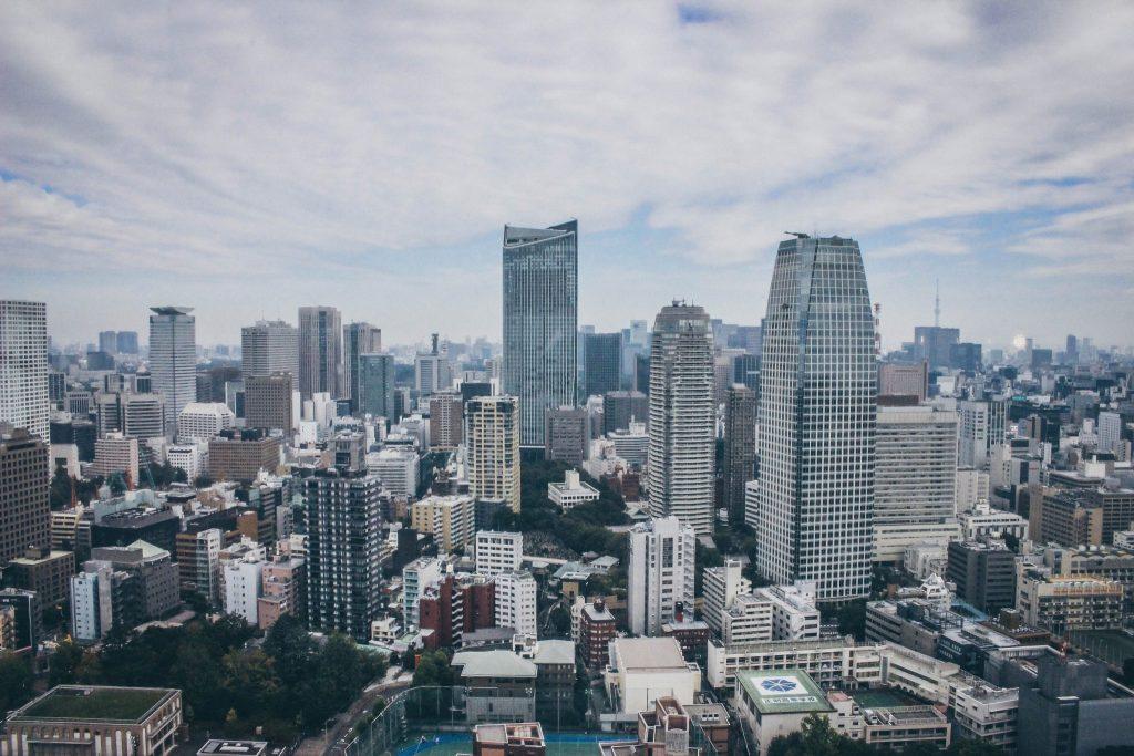 Tokyo Tower view in Tokyo Japan