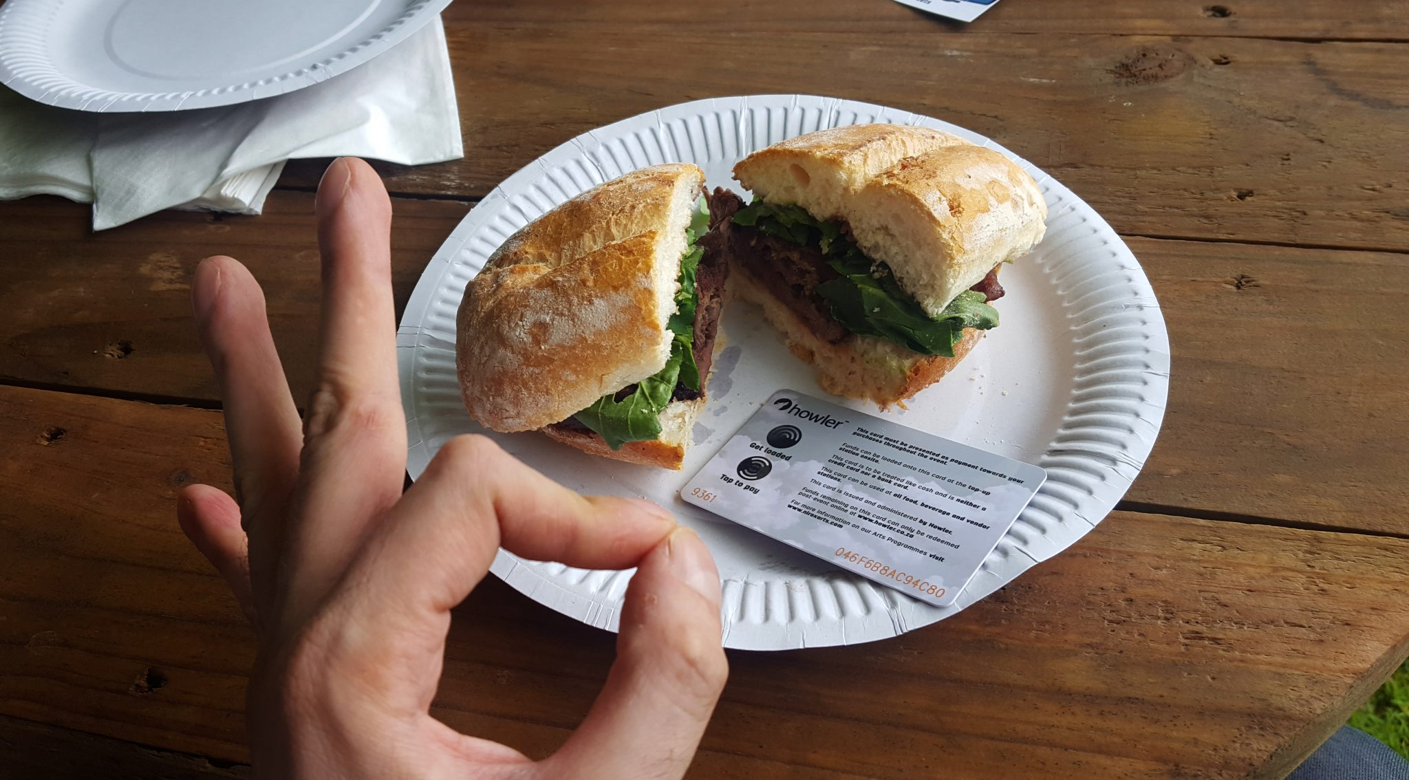 Sandwich and Howler Card