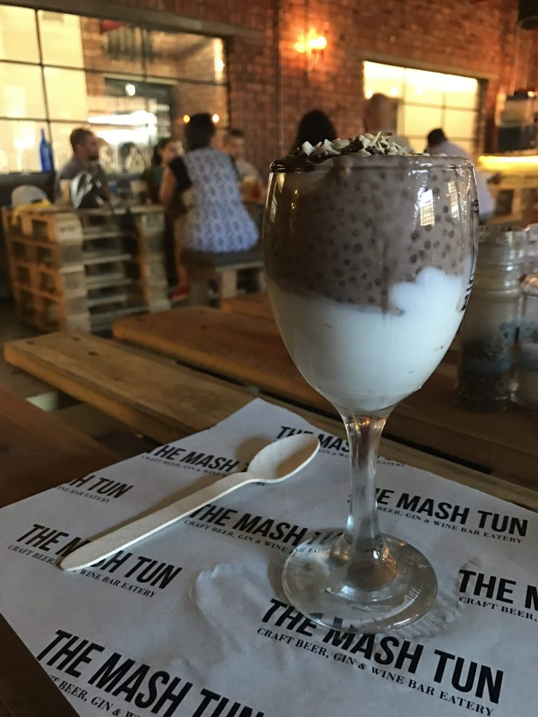 Chocolate Chia Parfait at the Mash Tun