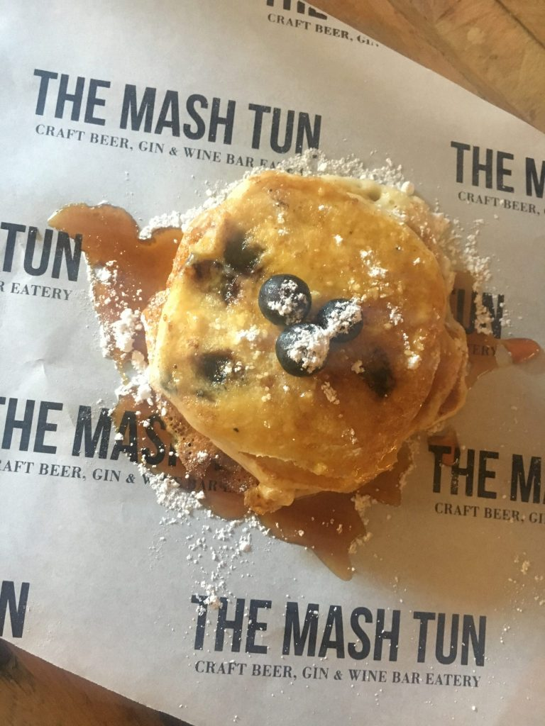 Ricotta Blueberry Pancakes at The Mash Tun