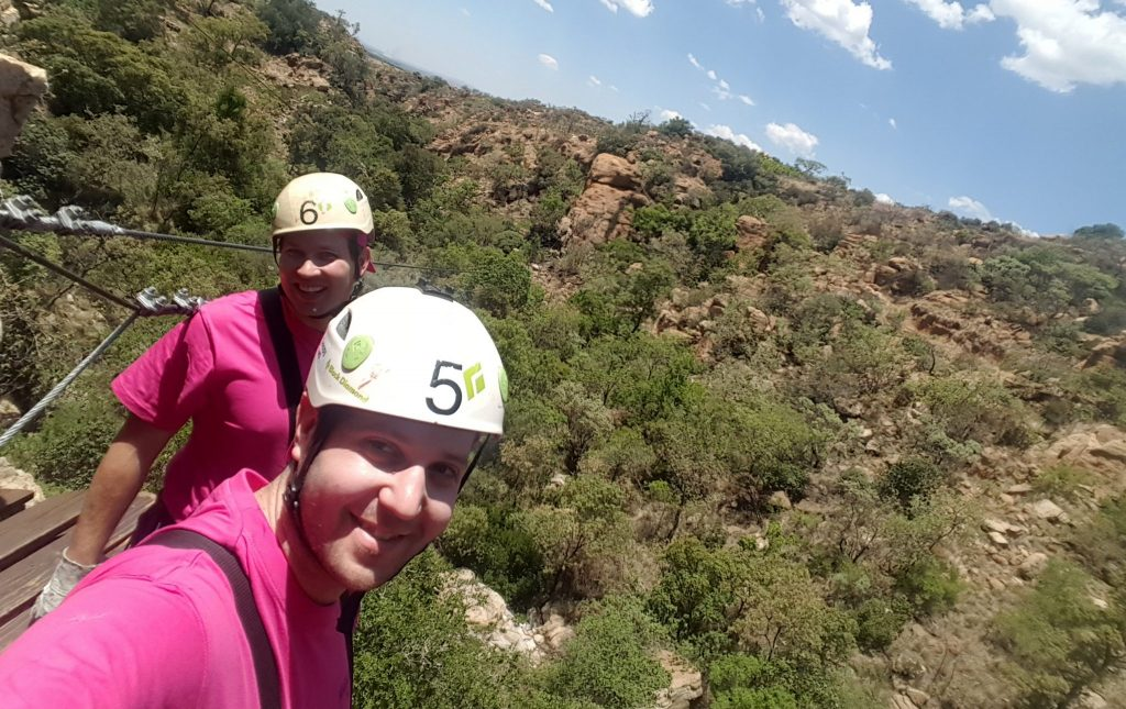 Ziplining in the Magaliesburg Mountain Range