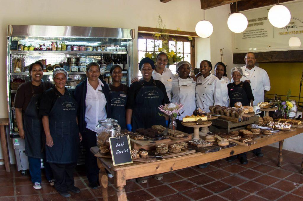 Staff at Spier Farm Kitchen