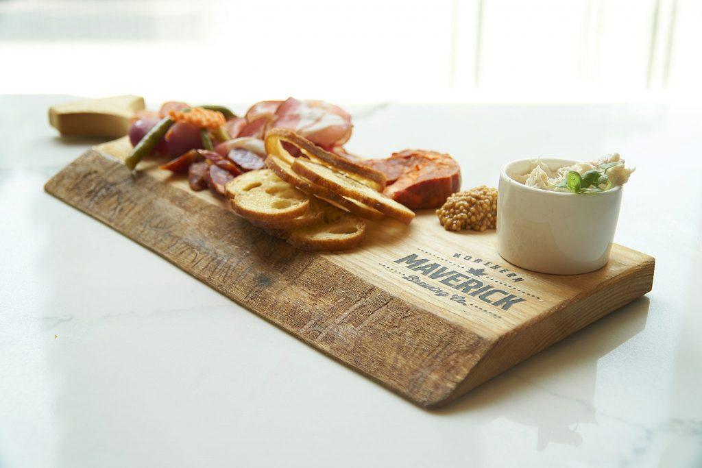 Food Board at Northern Maverick Brewing Company