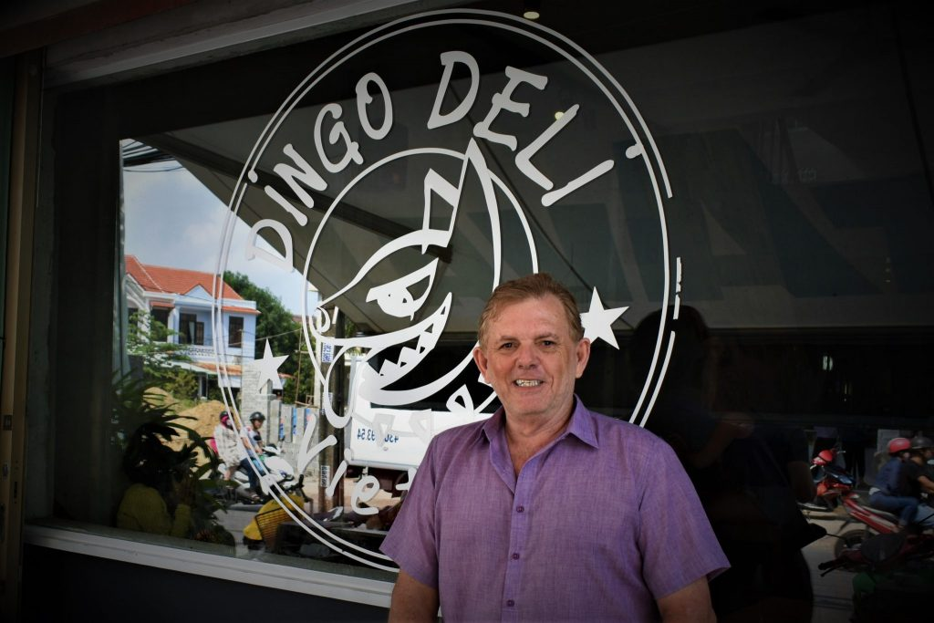 Gordon North of Dingo Deli in Hoi An
