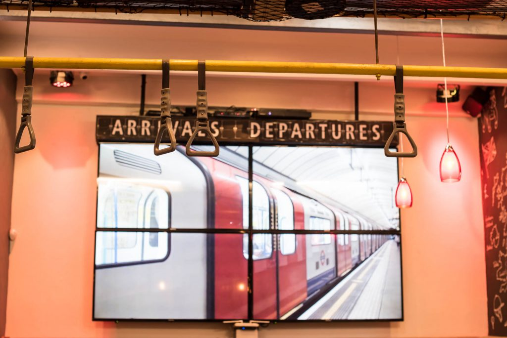 The Station on Bree Arrivals Departure Sign