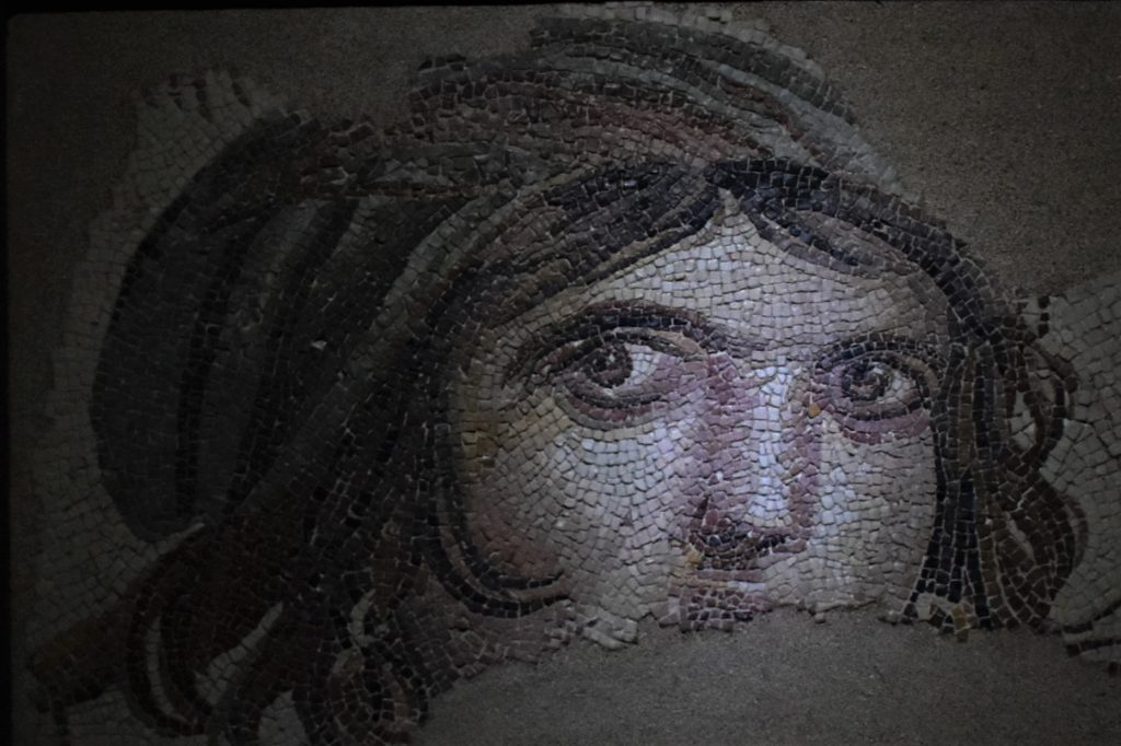 The Gypsy Girl at Zeugma Mosaic Museum