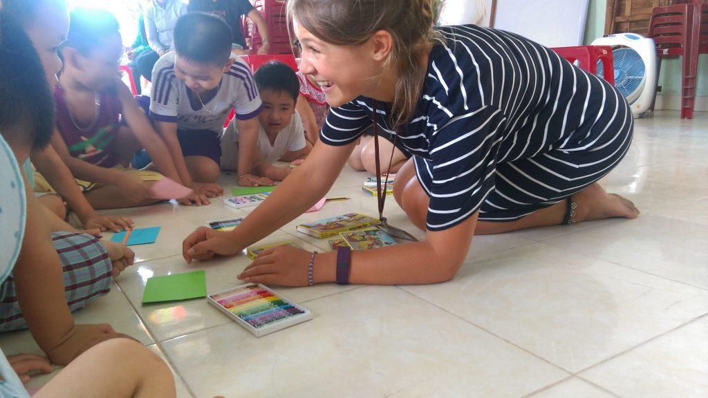Teaching English in Vietnam to kids