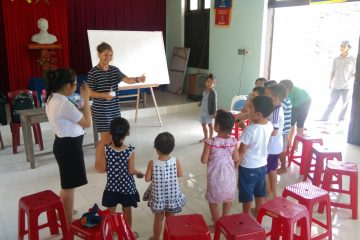Caitlin teaching English in Vietnam