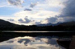Lake Naverone Sunrise and Boat