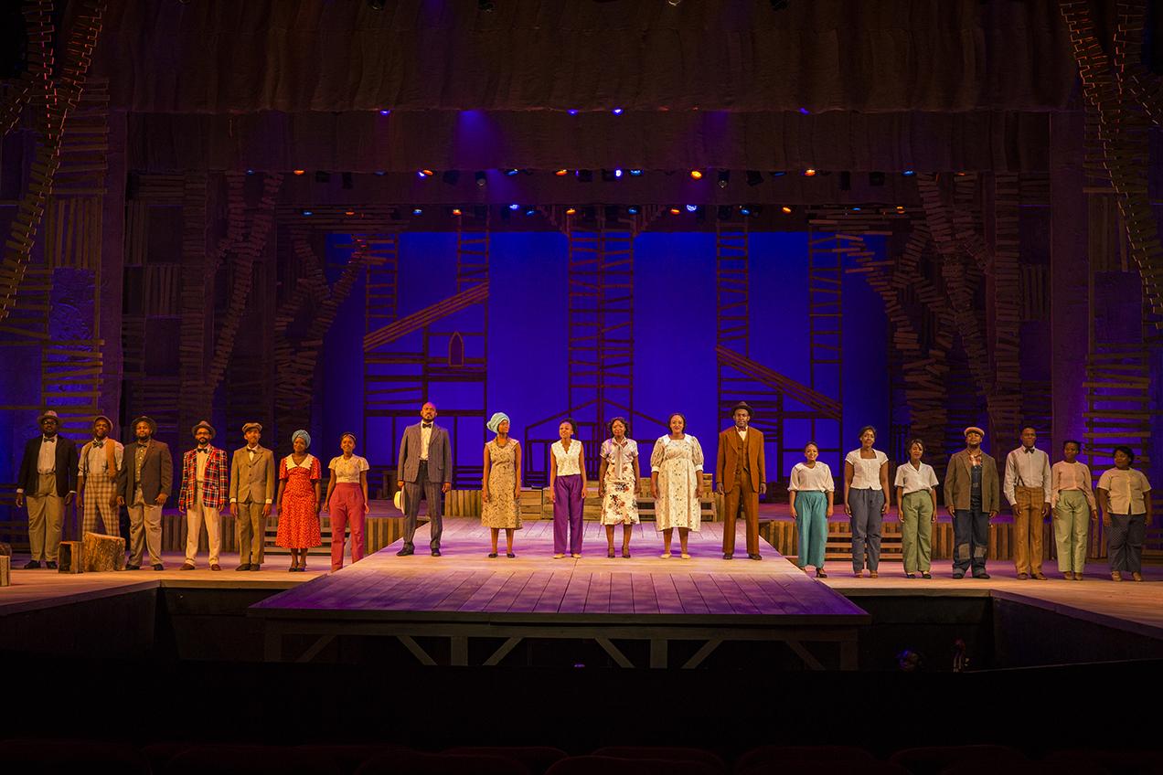 The Color Purple cast in Joburg