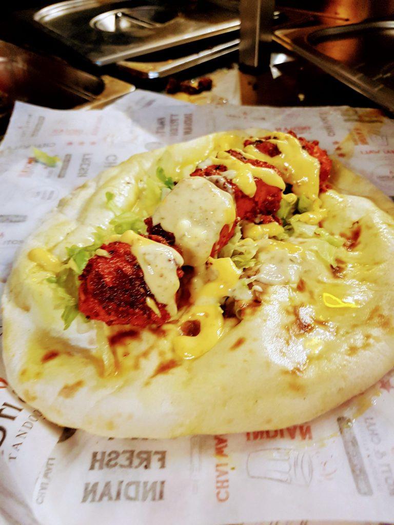 Naan wrap at Roti and Chai